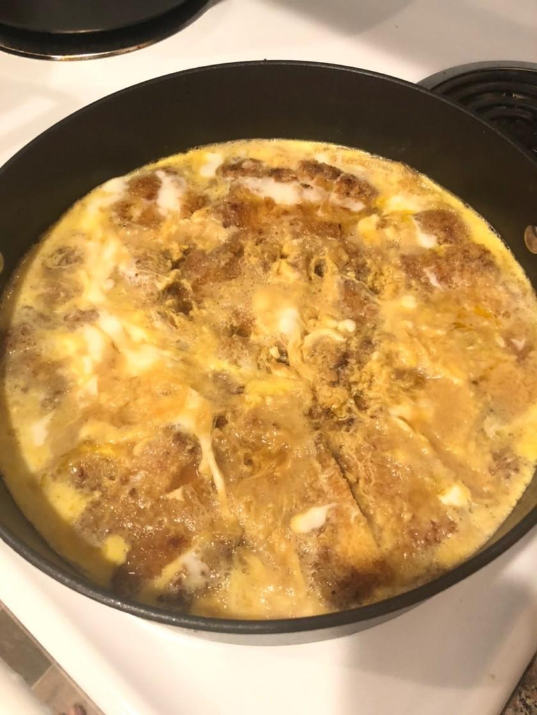 麺つゆ de 簡単 家族のかつ煮 かつ丼