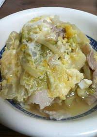 白菜と豚のおなべ