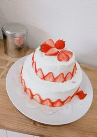 ふわふわスポンジいちごショートケーキ