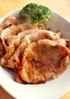 豚ロース薄切り肉で味噌漬け