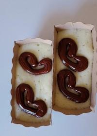 レンチンでHMガーナリップルカップケーキ