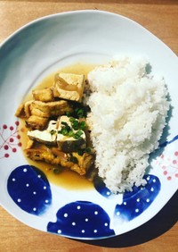 【ヘルシー】豆腐とお揚げのスパイスカレー