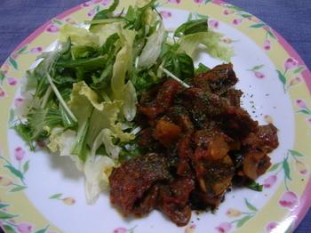 みすじ肉のソテー トマトソース