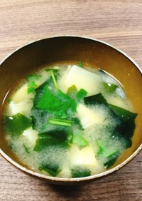 筍とわかめのお味噌汁 *☻*