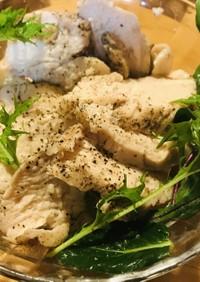 冷凍鶏もも肉●ゆで鶏のサラダ