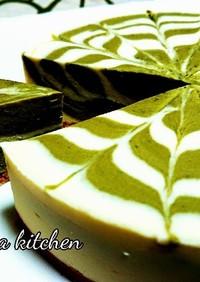 抹茶マーブルレアチーズケーキ