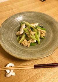 セロリと鶏肉の炒め物