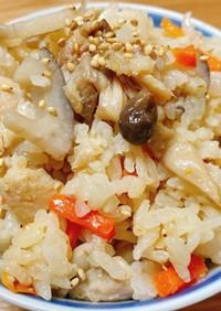 鶏モモの炊き込みご飯