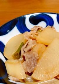 簡単美味しい!豚肉と大根とネギの煮物
