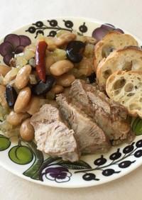 とろける♪豚肉といんげん豆の白ワイン煮
