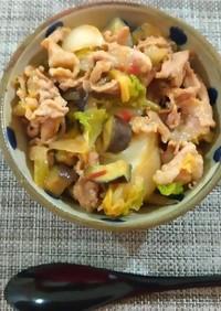 超簡単!豚肉とキャベツの味噌豆板醤丼!