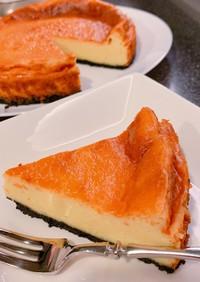 オレオで☆ほろ苦ベイクドチーズケーキ