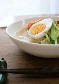 こんにゃく麺でさっぱり☆韓国風冷麺