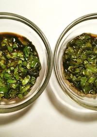 木の芽(山椒の葉)の醤油漬け 2種類