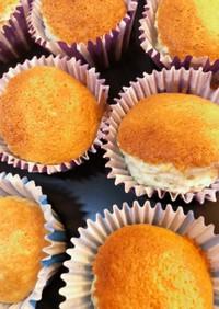 卵白4個で作る!シフォンカップケーキ