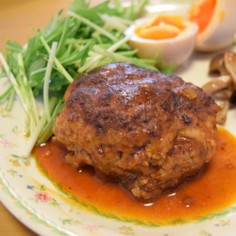 柔らか美味しい!煮込み豆腐ハンバーグ