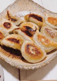 手作り餃子の皮でニラ餃子