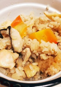 ほんのり甘めな筍と鶏肉の炊き込みご飯