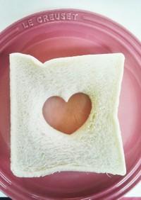 簡単‼お子様と作るハートのサンドイッチ♪