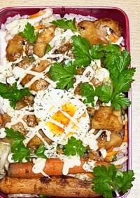 野菜たっぷり!ヘルシー鶏胸肉の照り焼き丼