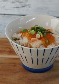 鮭ととろろ昆布の混ぜご飯♪