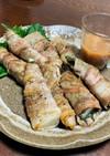 春の味覚✨たけのこの豚バラ巻き梅肉ソース