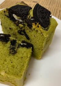 抹茶×オレオの米粉パウンドケーキ