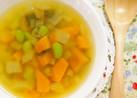 甘い☆カボチャと枝豆のスープ