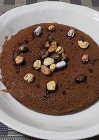 炊飯器でチョコバナナケーキ