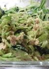 ブロッコリーの茎と小松菜のツナマヨ