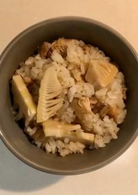 【基本・和食】たけのこ鶏肉の炊き込みご飯