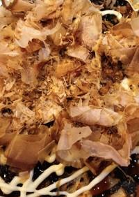 グルテン少なめ 山芋とイカのお好み焼き