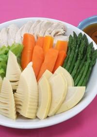簡単!春野菜&チキンのレンジ蒸し