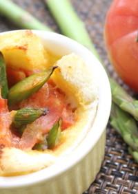 アスパラガスとトマトのお手軽キッシュ