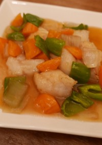 鱈と野菜の甘酢あんかけ