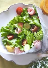 【親子レシピ】クレープブーケサラダ