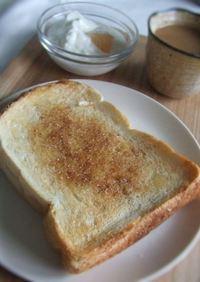 カフェ風♡香るシナモンバタートースト