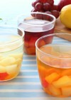 果汁たっぷり飲む酢で★フルーツゼリー