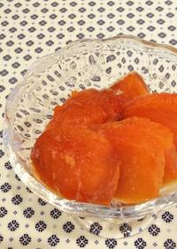 完熟柿は*冷凍保存