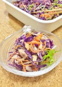常備菜 紫キャベツの香ばしサラダ