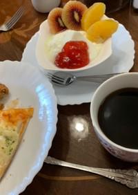 ヤマザキ菓子パンリメイクとヨーグルト