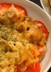 鶏モモとトマトのチーズオーブン焼き