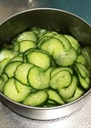 胡瓜の酢の物(リンゴ酢)