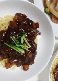 韓国中華の海鮮ジャージャー麺