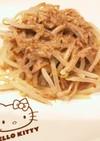 簡単!焼豚とモヤシのごま風味サラダ
