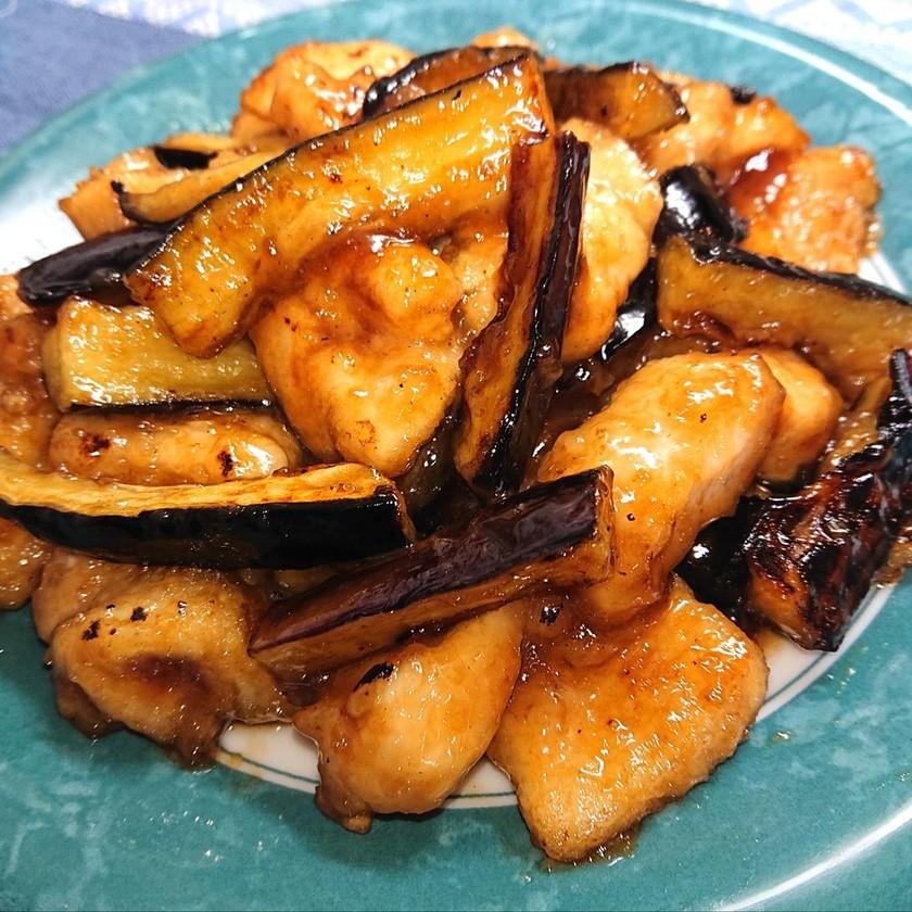 鶏胸肉となすの甘酸っぱ焼き煮、ダイエット