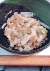我が家の定番納豆と白菜の浅漬け