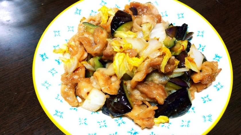 豚肉の味噌炒め(だし入り味噌使用)