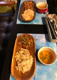 カブの葉と生姜の炊き込みご飯✅