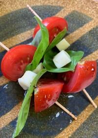 トマトとバジルとチーズの串刺し